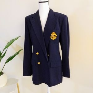 Lauren Ralph Lauren pure wool navy blue blazer